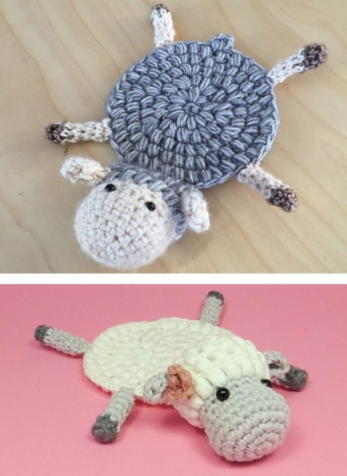Amelia the Sheep Coaster - Free Crochet Pattern
