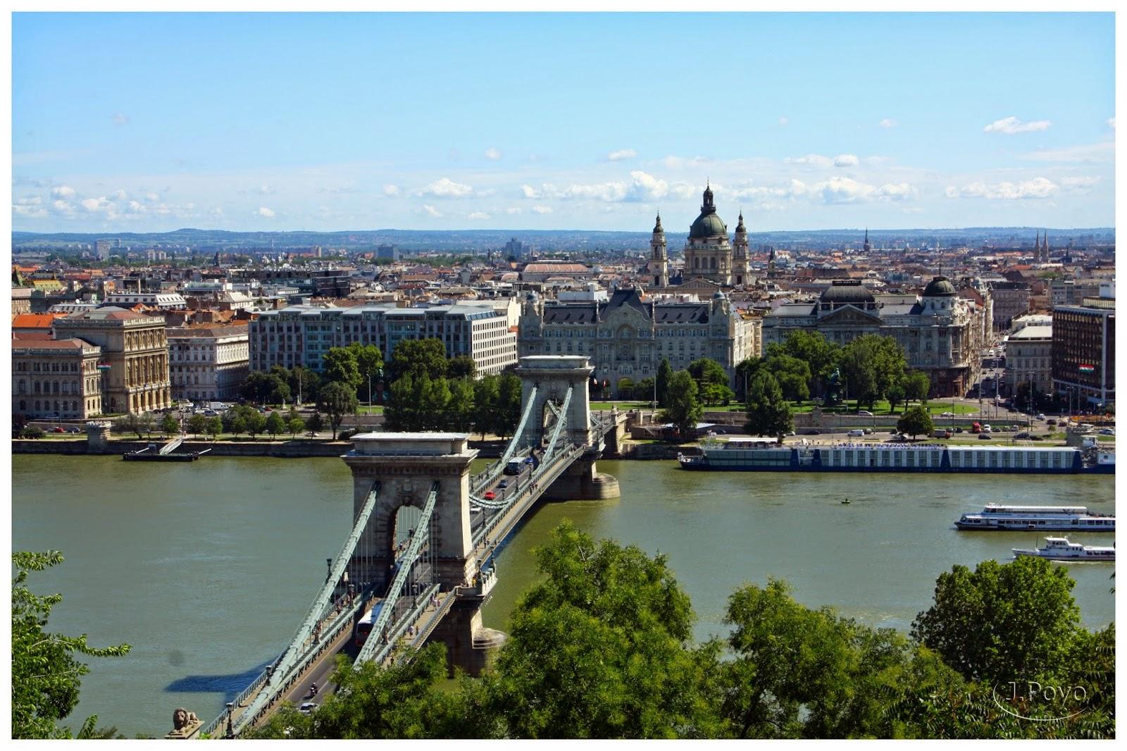 Puente de las Cadenas desde el Palacio Real, Budapest