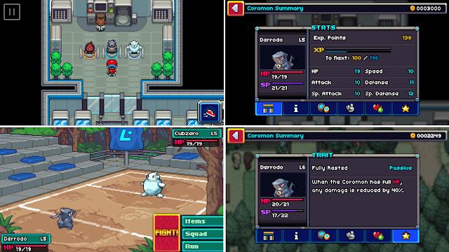 Coromon Game Android Mirip Pokemon - Bergaya Retro Pixelart(Tahap early access)!