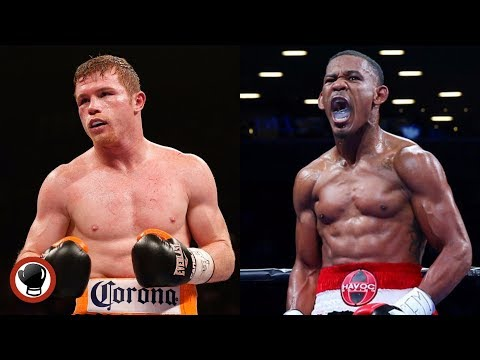 Canelo Alvarez left, Danny Jacobs Right