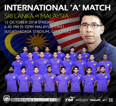 Live Streaming Malaysia vs Sri Lanka 12.10.2018
