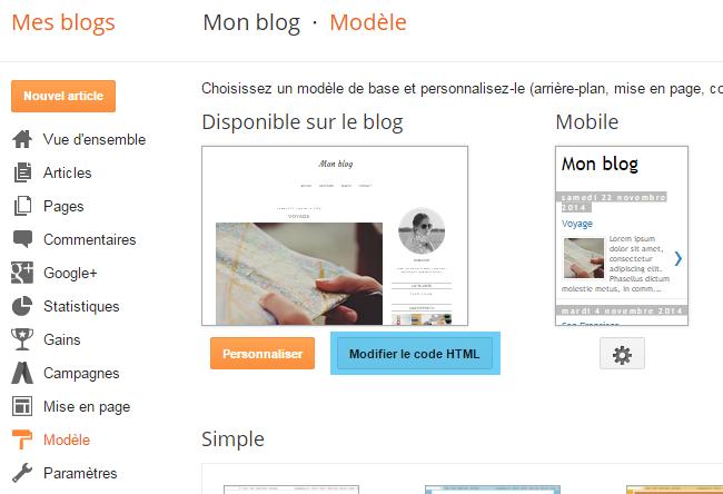 Supprimer / Modifier l'encadré sur la page des libellés sur Blogger
