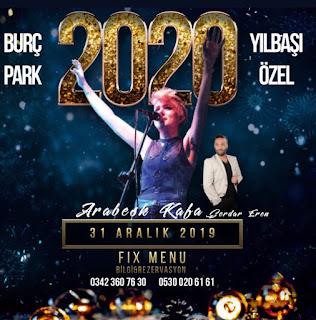Burç Park Gaziantep Yılbaşı Programı 2020 Menüsü