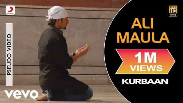 अली मौला Ali Maula Lyrics In Hindi - Kurbaan