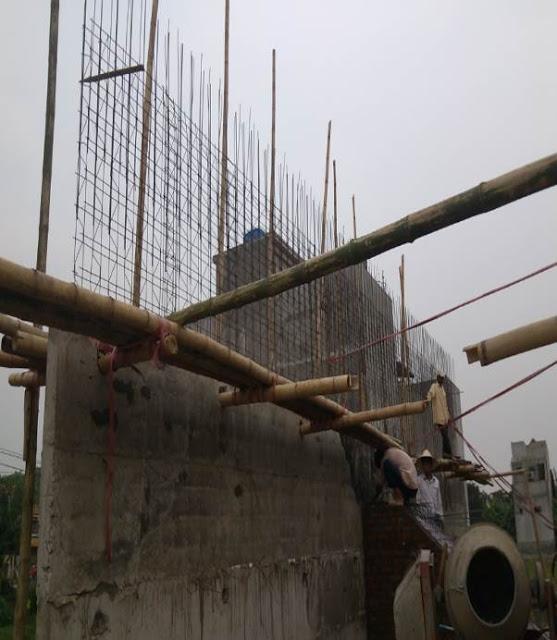 Tường bê tông - Cốt thép 3d