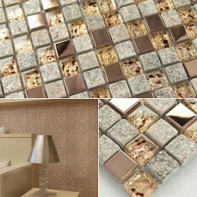 natural stone and glass mosaic sheets stainless steel backsplash square tiles metal tile backsplash wall kitchen