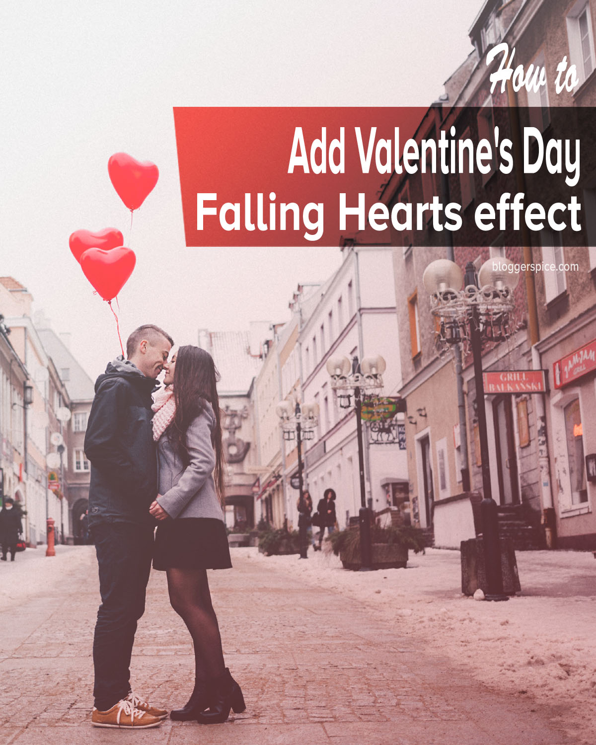 Falling Hearts on Your Blog - Valentines Day Special