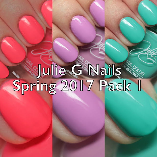 Julie G Nails Spring 2017 Pack 1
