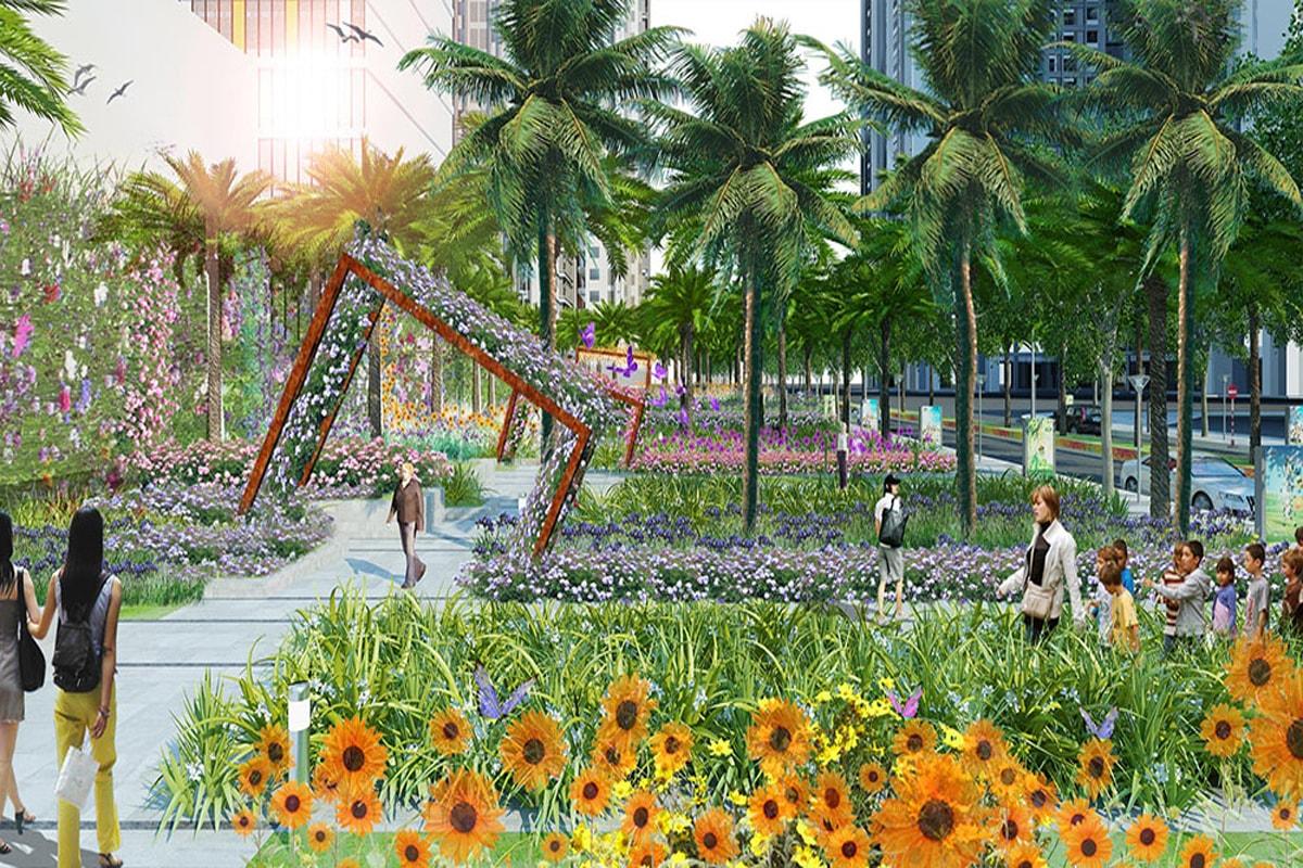 Vườn hoa cầu vồng Goldmark City