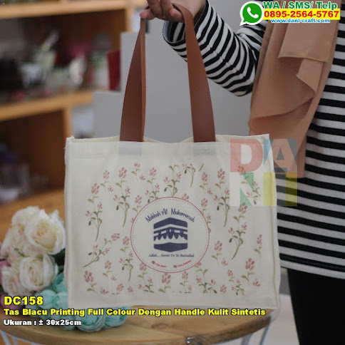 Tas Blacu Printing Full Colour Dengan Handle Kulit Sintetis