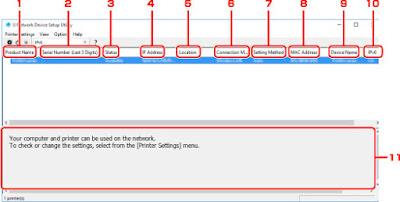 PIXMA TS5150 IJ Network Device Setup Utility