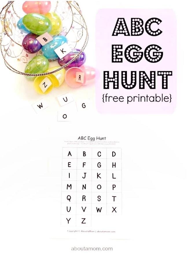 abc easter egg hunt idea