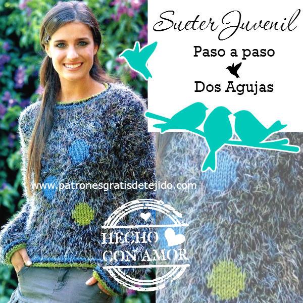 Juvenil Paso Crochet Paso Agujas Palillos Sueter Dos A Dos Y En Pqgtwp