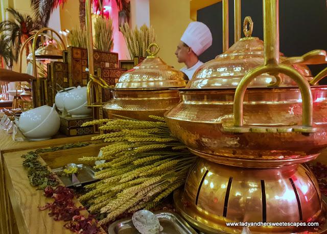 food in Movenpick Ibn Battuta brunch