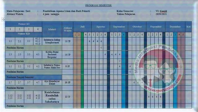 Download Promes PAI Kelas 6 SD K13 Revisi 2021