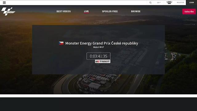 link streaming MotoGP terbaru di website official