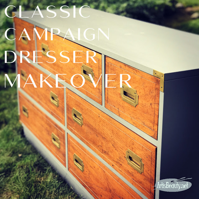 DRIFTWOOD CAMPAIGN DRESSER MAKEOVER USING GENERAL FINISHES