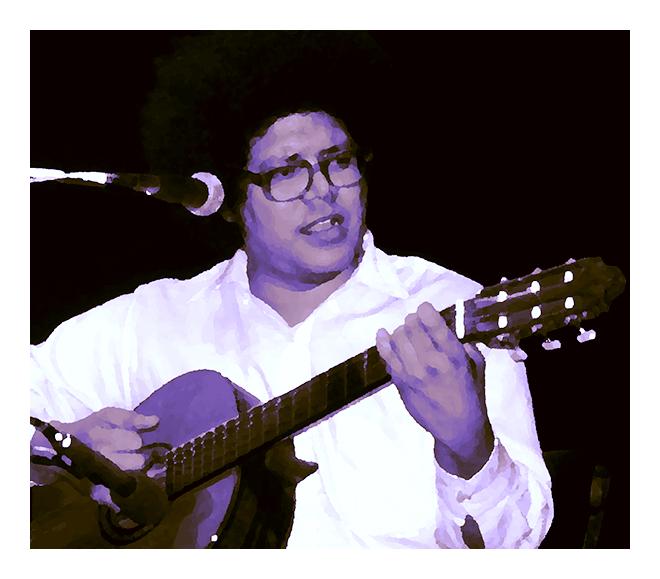 Pablo Milanés actuando en directo. Imagen: Rodrigo L. Alonso