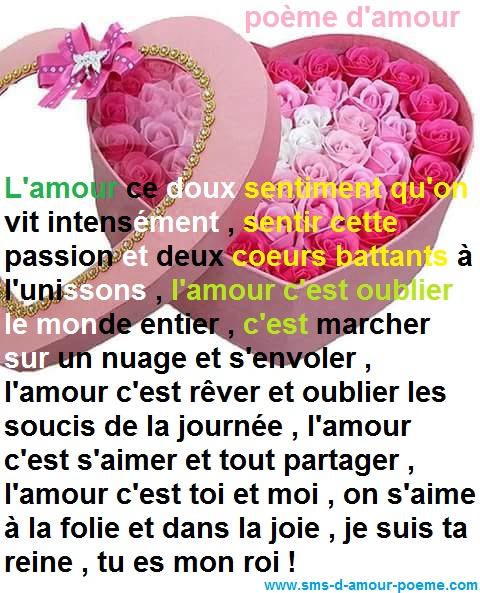 Assez Poème d'amour | Poème d'amour SMS romantique TL97