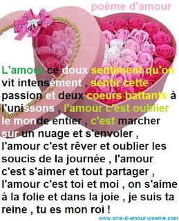 Poème Damour Mot Damour