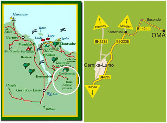 Mapa al bosque pintado de Oma