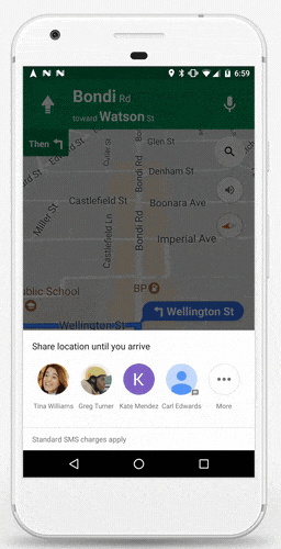 How to start the trip in shared location in Google Maps. How to Enable location sharing option google Maps