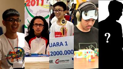 Berikut ini adalah wajah top 5 cuber 3x3x3 blindfold di Indonesia