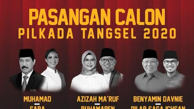 Quick Count Pilkada Tangsel Banten: Ponakan Menhan Prabowo dan Putri Wapres Maruf Keok