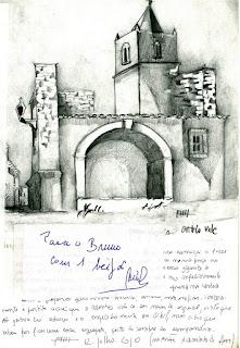 ART / Desenho e Aguarela, Bruno Braddell, Castelo de Vide, Portugal