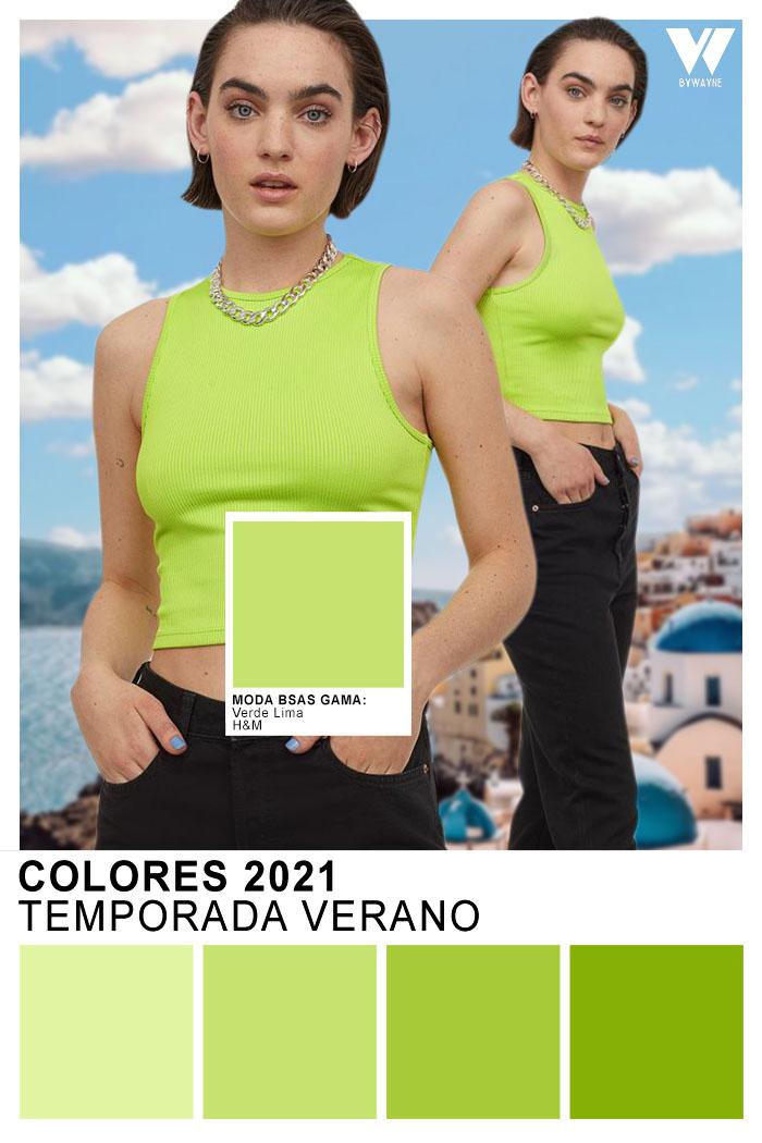 Moda verano 2021 Colores 2021 Verano Verde Limon