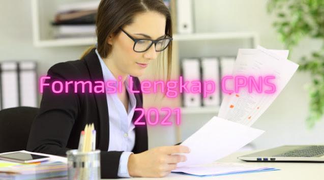 Formasi Lengkap CPNS 2021