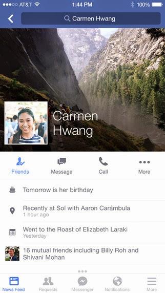 Facebook: l'app si aggiorna alla vers 49.0