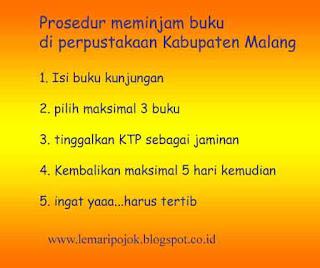 prosedur peminjaman buku perpustakaan kabupatenmalang kepanjen
