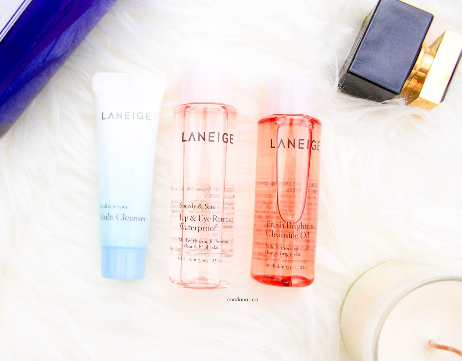 laneige trial cleansing set