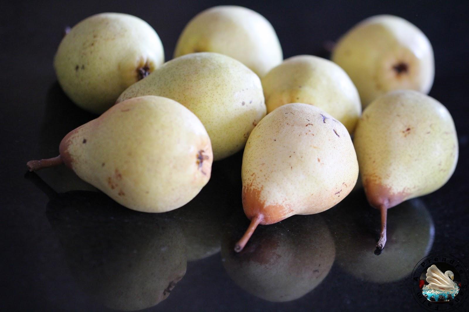 Gâteau portugais aux poires caramélisées
