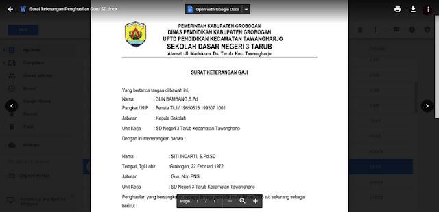 File Pendidikan Contoh Surat Keterangan Penghasilan Guru Honorer