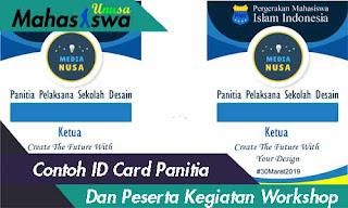 contoh id card panitia keren