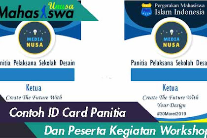 Contoh ID Card Panitia Workshop PSD
