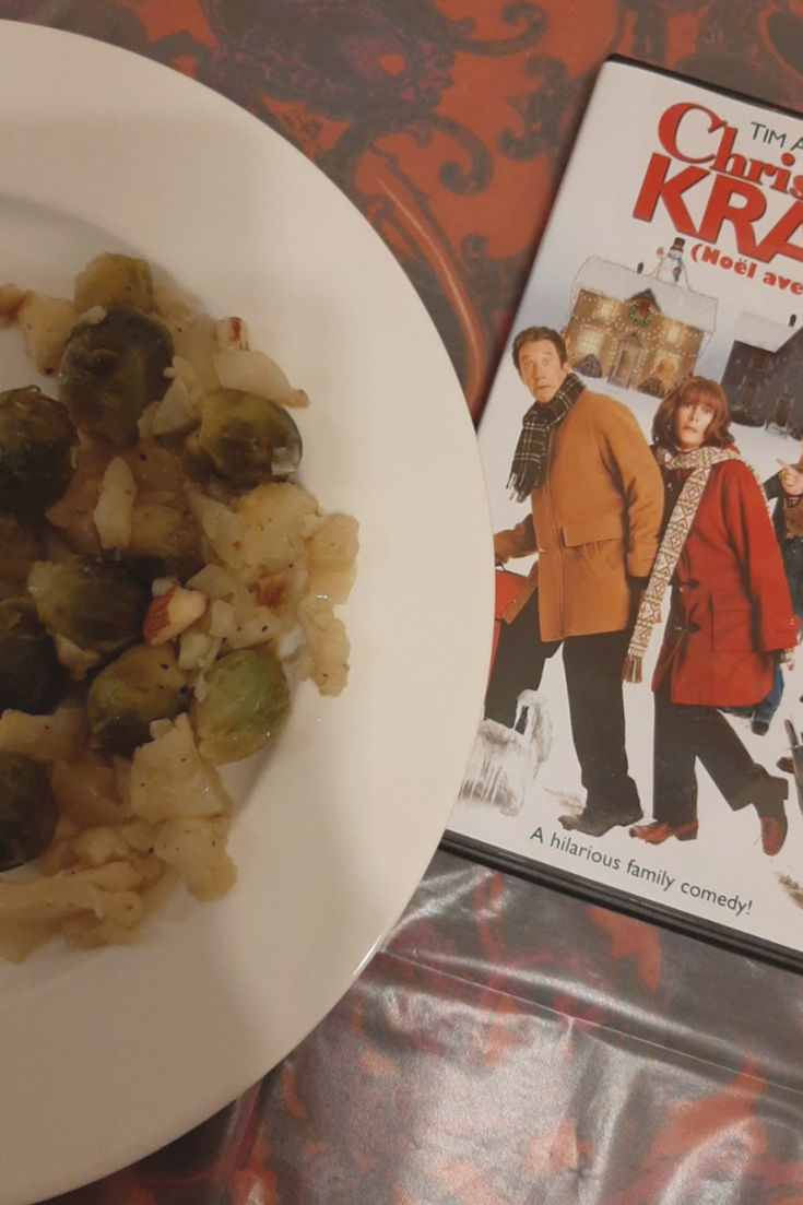 Christmas with the Krank's inspired Brussels Sprouts dish from Coffee and Casseroles