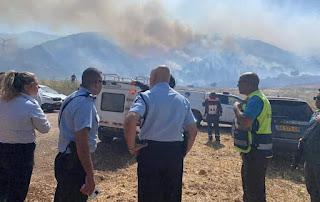 حريق شبّ في أحراش بمنطقة كريات حروشت