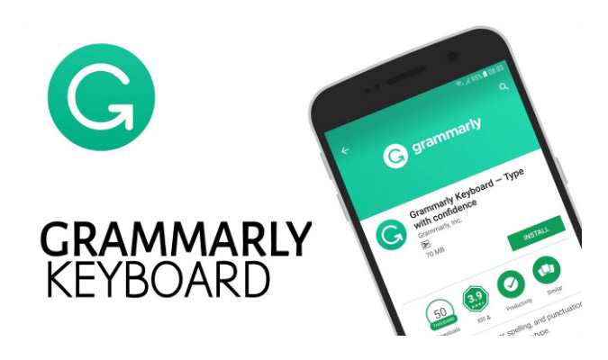 Aplikasi Keyboard Terbaik tuk iPhone - Grammarly Keyboard