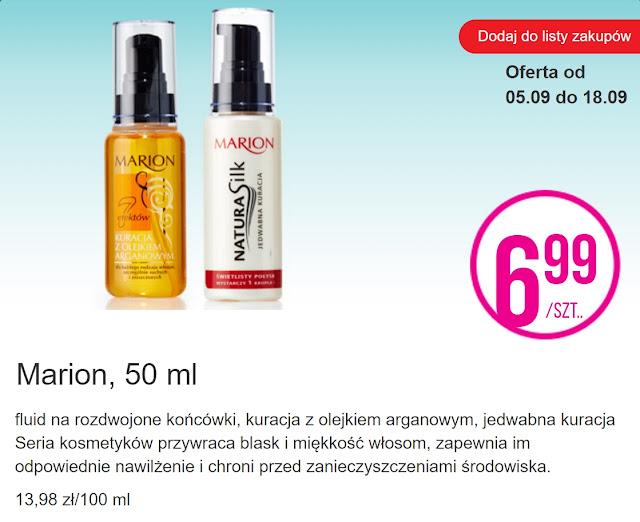 Marion kosmetyki do włosów - Biedronka, promocja