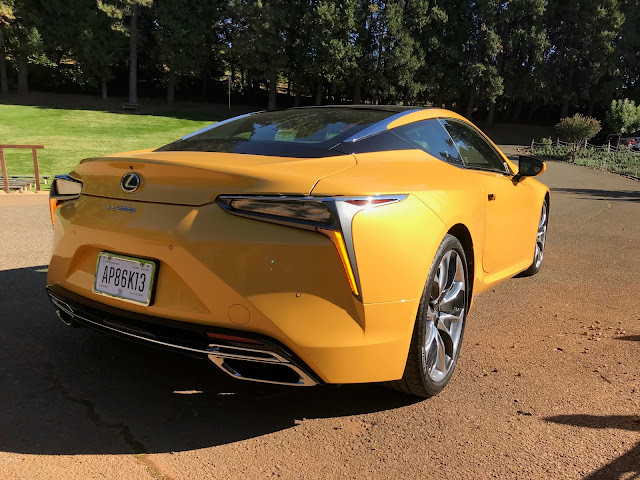 Rear 3/4 view of 2020 Lexus LC 500h