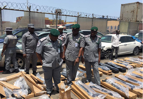 440 pump action rifles seized tin can island apapa