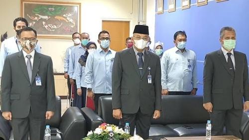 Jajaran Direksi Perumda Air Minum Kota Padang Ikuti Rapat Paripurna HUT Kota Padang Secara Virtual