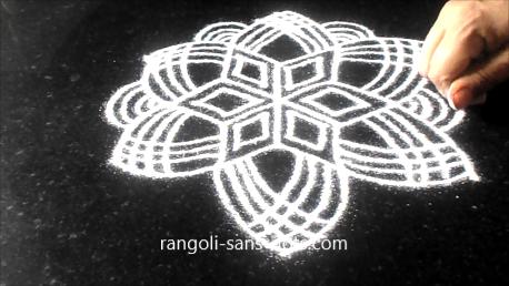 Traditional Tamil New Year kolam designs   Kolam by Sudha ... Rangoli Designs With Dots For New Year 2012