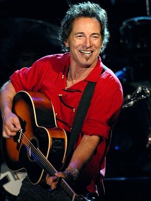 Foto de Bruce Springsteen sonriendo