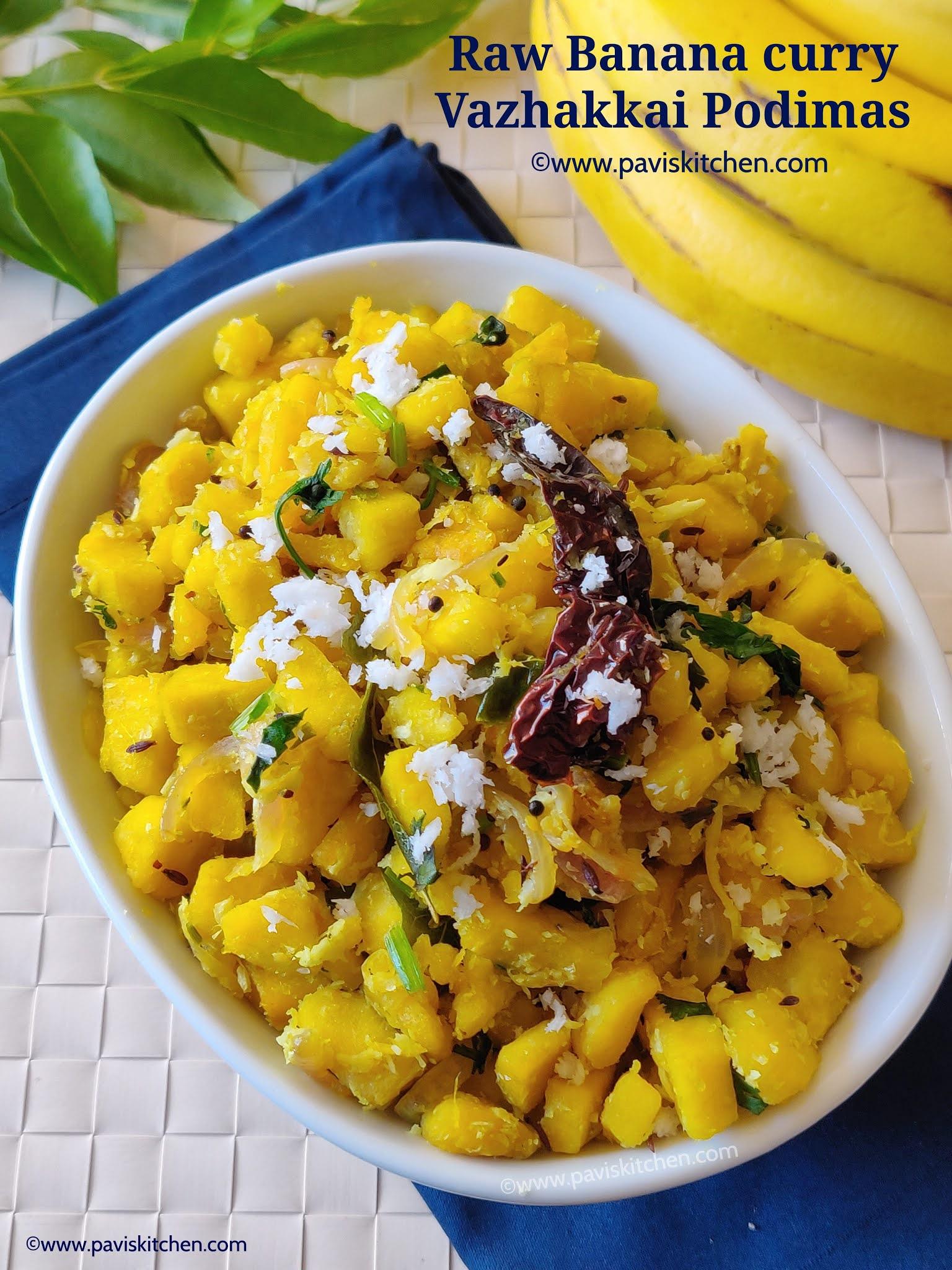 Vazhakkai podimas recipe   Valakkai Puttu   Plantain podimas recipe   Raw banana podimas recipe