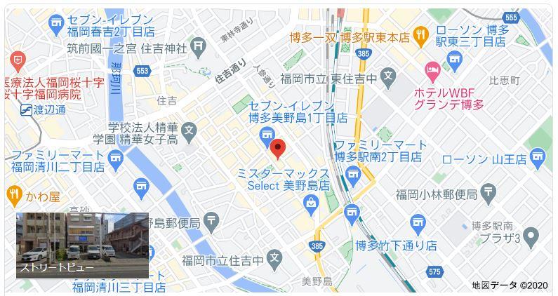 株式会社 キュウフクまでの地図