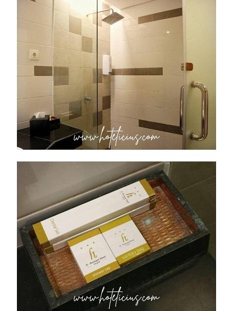 Toilet dan kamar mandi + Toiletries di H Boutique Hotel Jogja
